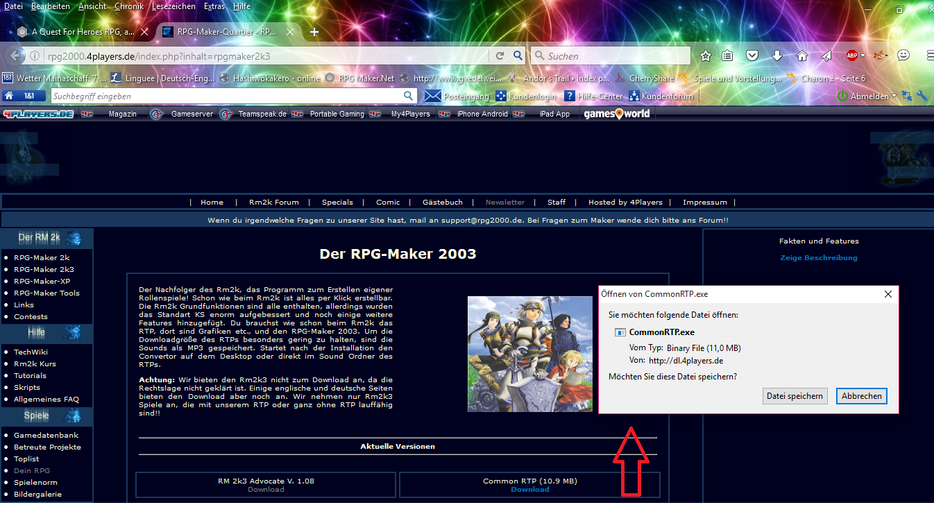 rpg maker 2003 runtime package скачать